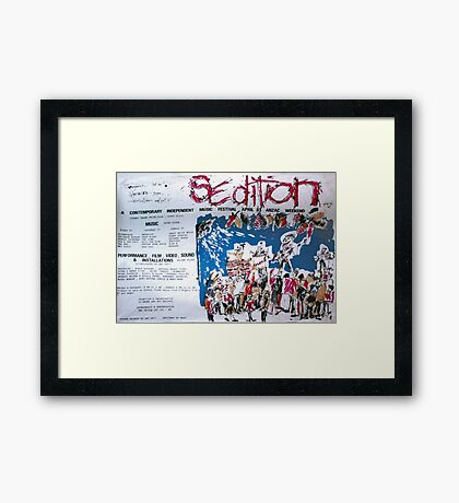 Sedition poster for Art Unit at the Sydney Trade Union Club 1983 Framed Print