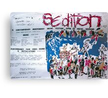Sedition poster for Art Unit at the Sydney Trade Union Club 1983 Canvas Print