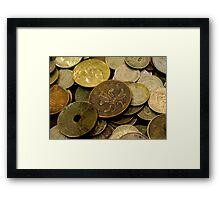 Old Coins Framed Print