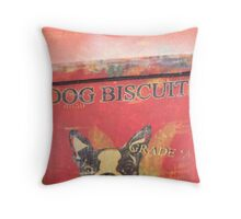 Dog Biscuits Throw Pillow