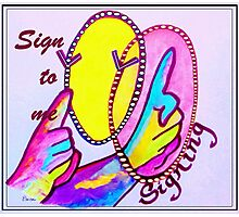 SIGN TO ME Photographic Print