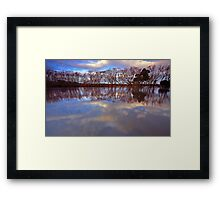 """Reflections at Evandale"" Framed Print"