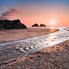 Cornwall - Holywell Beach by Michael Breitung
