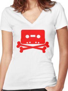 BONES Women's Fitted V-Neck T-Shirt