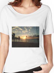 Hawaiian Sunset Women's Relaxed Fit T-Shirt