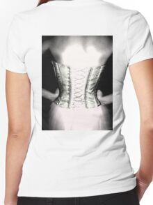 Back corset Women's Fitted V-Neck T-Shirt