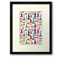 USA Famous City Framed Print