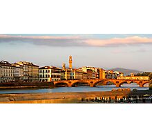 View across the river Arno in Florence Photographic Print