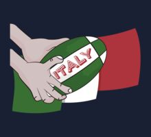 Italy Rugby Ball Flag One Piece - Long Sleeve