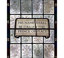 Prince of Peace Stained Glass Window Photographic Print