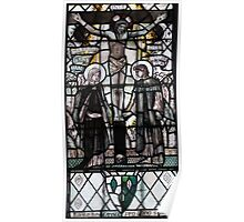 Crucifiction Stained Glass Window 0001 Poster