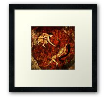 Adam, Eve and The Forbidden Strawberry Framed Print