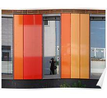 Het 4e Gymnasium - wood, wall panels, windows (3) Poster