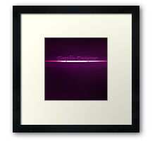 Proud to be a Graphic designer  Framed Print