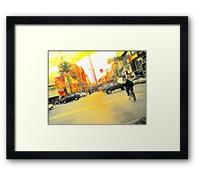 pixel-y hollywood intersection Framed Print