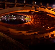 Torrens Reflections: King William St Bridge by Tony Phillips