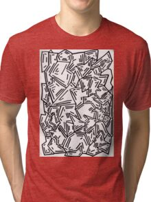 Crumpled Dashes Tri-blend T-Shirt