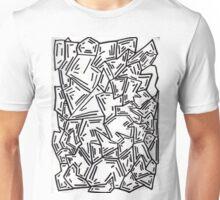 Crumpled Dashes Unisex T-Shirt