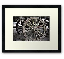 Raw Chariot Wheel Framed Print
