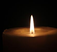 Candle flame by Julie Carpenter