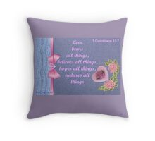 A love card with a verse  Throw Pillow