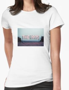 The 1975 pink neon 1 Womens Fitted T-Shirt