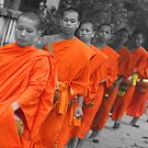 The Monks of Laos by DaveoBooTwo