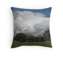 nimbus clouds rolling in Throw Pillow