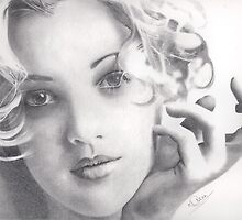 Drew Barrymore by Karen Townsend