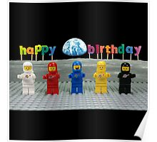 Happy Birthday - Classic Space Poster