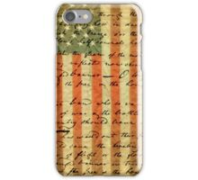 American Flag and Lyrics to Star Spangled Banner iPhone Case/Skin