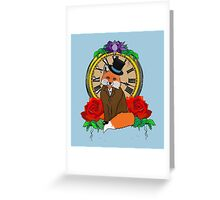 Formal and Timeless Fox Greeting Card