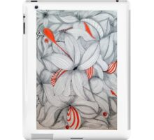 ink art with red iPad Case/Skin