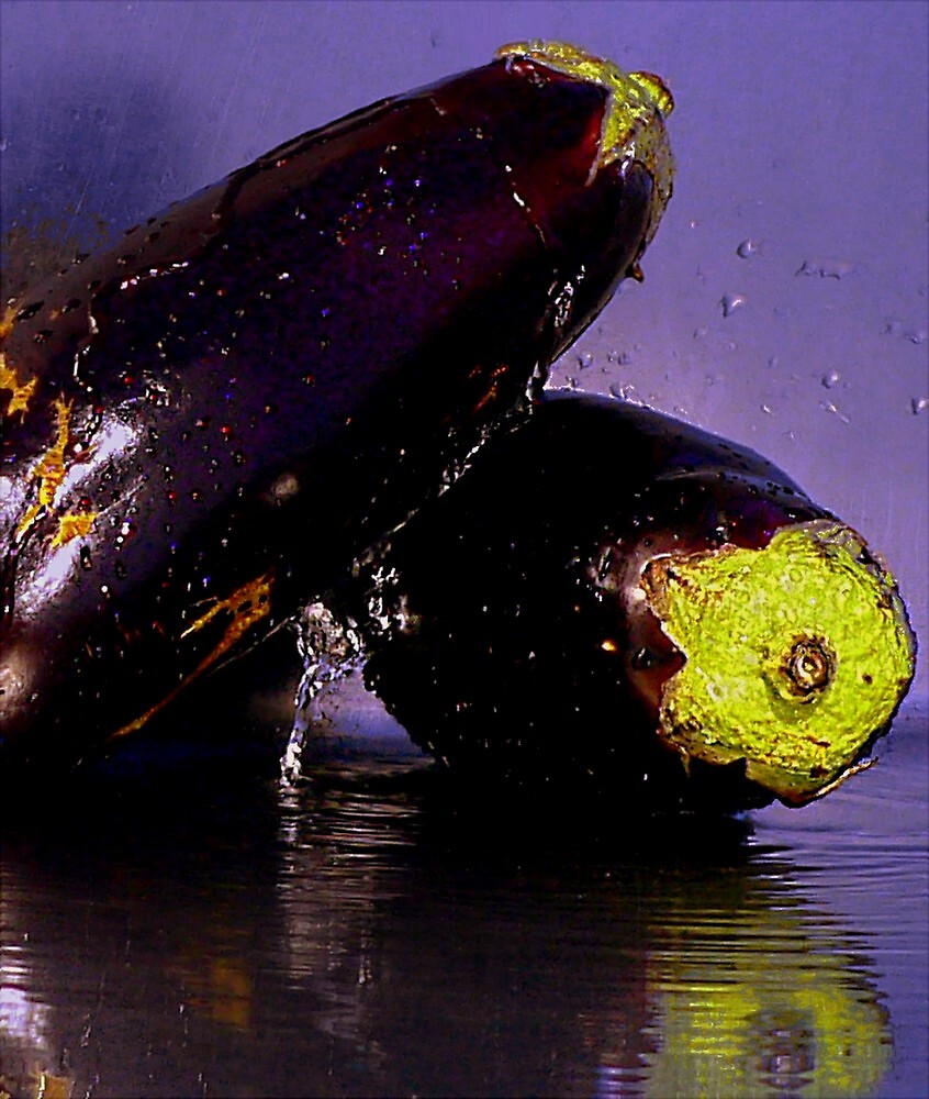 Purple Rain & Passionate Eggplant by paintingsheep