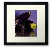 Purple Rain & Passionate Eggplant Framed Print
