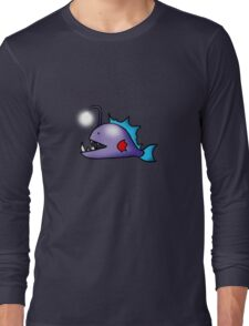 Sea ocean deep sea light fish cartoon Long Sleeve T-Shirt