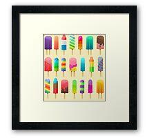 Popsicle Pattern Framed Print