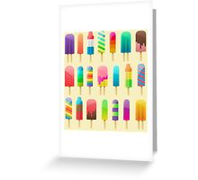 Popsicle Pattern Greeting Card