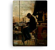 The worker - Lost in the past Canvas Print
