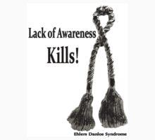 Lack of Awareness Kills- Sq Decal by Rabecca Primeau