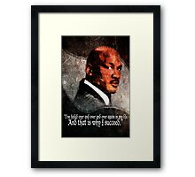 Michael Jordan Vector and Quote Framed Print