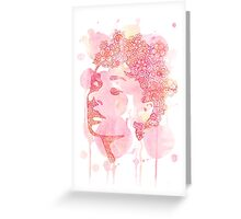 Audrey with a twist Greeting Card