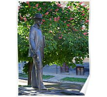 Statue of Ivan Trush, ukrainian artist. L'viv, Ukraine Poster