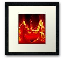 Heart is burning-2 Framed Print