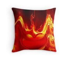 Heart is burning-2 Throw Pillow