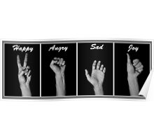 Emotion through Hand Poster