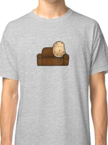 Funny couch potato cartoon Classic T-Shirt