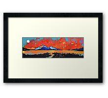 Skye Sunset from Rassay, Scottish Western Isles Framed Print
