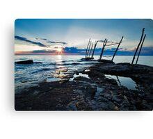 Sunset at basanija Canvas Print