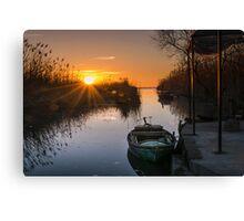 Sunset at Silla Canvas Print